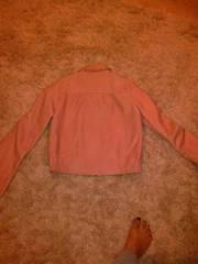 vintage 'whistles' salmon pink leather jacket size 10