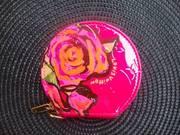 louis vuitton roses purse in fushia authentic   reciept