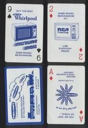 Phil & Jim TV. Vintage advertising playing cards