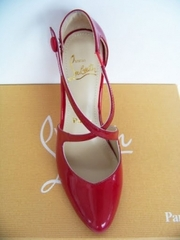 buy Christian Louboutin Louboutin Red suede high-heeled shoes