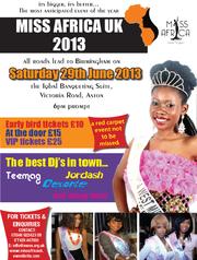 MISS AFRICA UK 2013