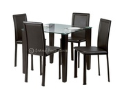 Glass Dining Table & Dining Room Furniture (Quito Contemporary)