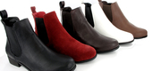 Black Leather Fashion Riding Boots for Ladies