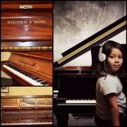 Steinway & Sons,  Model K Pianos at £9, 500.00 Only