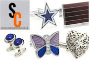 Add style & refinement to your outfit at Star Cufflinks