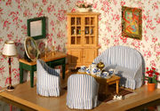 1:12 Lot 7 Dollhouse Miniature Vintage Living Room set Bed Room Sofa