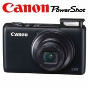 Canon Powershot S95 Digital Camera with 8GB Card + Battery + Case +