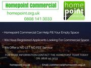 Home Point Commercial can help fill you empty space!