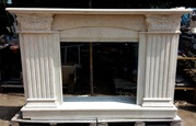 TRAVERTINE LIGHT - marble fireplace