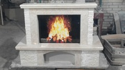 FIOR BEIGE_marble fireplace