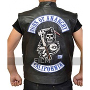 Sons Of Anarchy Jax Teller Biker Leather Vest