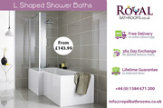L Shaped Shower Baths for Sale