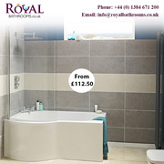 B Shaped Showers Baths availalbe in various size