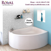 Royal Bathrooms Corner and Back to Wall Bath