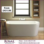 Shingle Back To Wall Single Ended   Acrylic Bath for Sale in UK