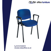 Swift Vinyl Conference Chair Chrome Frame with Arms