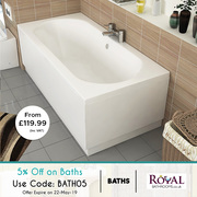 On Ideal Standard Baths you can get 5% Extra Discount