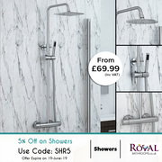 5% Off along With 70% Spring offer on Shower Kits