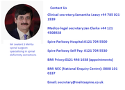 Mehta Spine - Spinal Deformity Surgeons UK