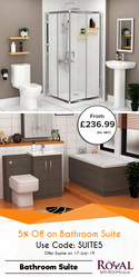Mega Saving 5% Discount Offer on Shower Bath Suites