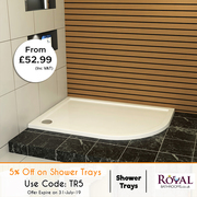 5% Off on Shower Tray Sizes