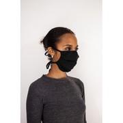 Washable/Reusable Adult UK Model VSG2-94 Cotton Black Fabric Face Mask