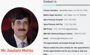 Orthopedic Spine Surgeon UK – Mr Jwalant S. Mehta