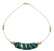 Gold Plated Murano Glass Necklace