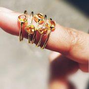 CITRINE RING – 18CT GOLD VERMEIL
